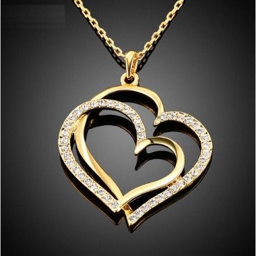 Ogrlica - Velike Srca - Zlato