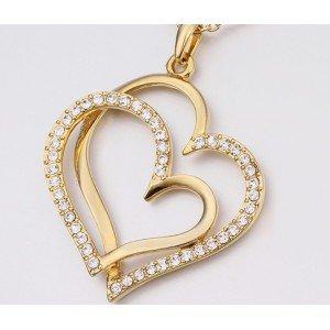 Ogrlica - Velike Srca - Zlato 3