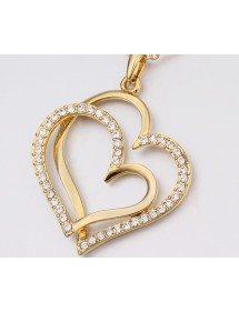 Collar De Corazón Grande - Oro 3