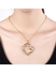 Collar De Corazón Grande - Oro 4