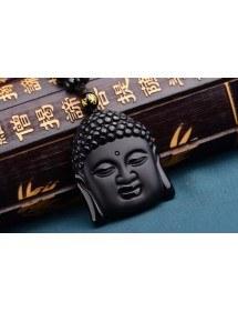 Collar De Buda - Premium - Obsidiana - Negro
