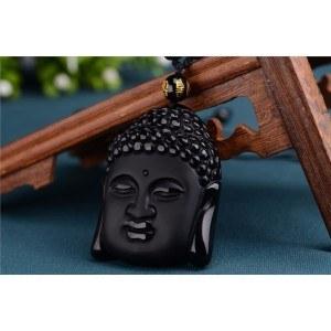 Collier - Bouddha - Premium - Obsidienne - Noir 2