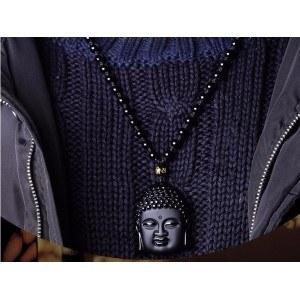 Collar De Buda - Premium - Obsidiana - Negro-3