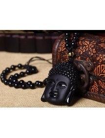 Collier - Bouddha - Premium - Obsidienne - Noir 5