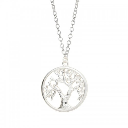 Necklace - Tree of Life - Retro - Silver