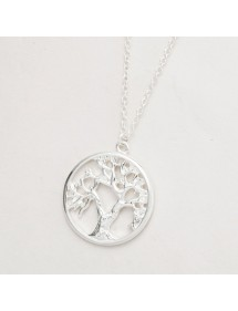 Necklace - Tree of Life - Retro - Silver 2