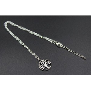 Necklace - Tree of Life - Retro - Silver 3